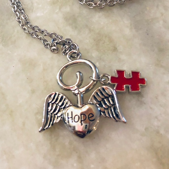 Jewelry - Autism Angel Puzzle Piece Necklace